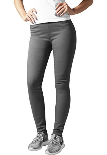 Urban Classics Ladies Treggings Pantaloni donna grigio XL