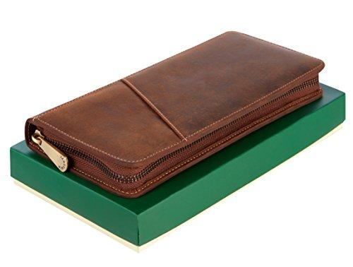 Visconti Leder Unisex Reise Flug Brieftasche