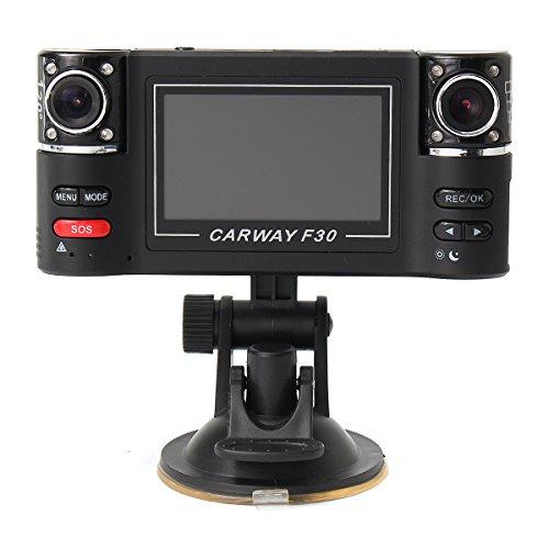 GOZAR 2,7 Inch F30 Doppel-Kamera-Objektiv Auto Dvr Cam Dash Video Recorder Ir Licht Nachtsicht