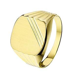 Lucardi – Siegelring in Gelbgold für Herren – 14 Karat (585) Gelbgold
