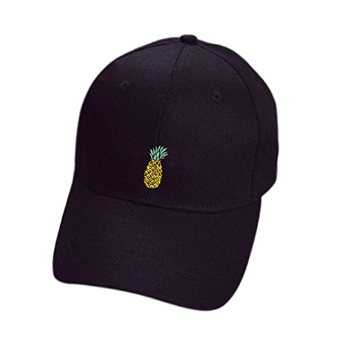 ❤️Amlaiworld Hombre Mujer Gorra de béisbol Casual Sombreros de piña Unisex  Sombrero de Punta Ajustable a1b38fd084c