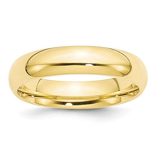 t Gelbgold, 5 mm Standardgröße, Bequeme Passform, Größe 11,5 ()