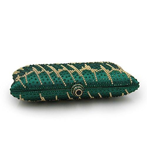 Flada, Poschette giorno donna verde Green medium Green