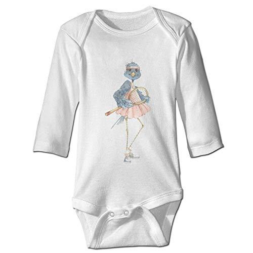 Monicago Neugeborenes Baby Jungen Mädchen Babybody Langarm, Baby Boys Girls Bodysuit Cute Sport Bird Jumpsuit Onesies Long Sleeve Unisex