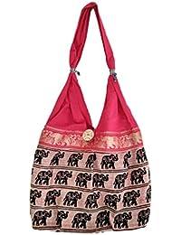 Women's Printed Multi Coloured Shoulder Bag/Traditional Bag/Jhola Bag Stylish Elegance/jaipuri Rajsthani Bag