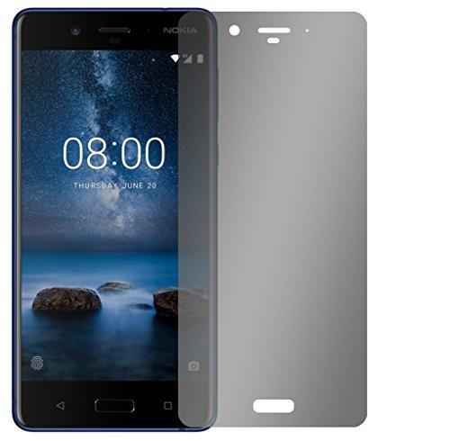 """Slabo Blickschutzfolie für Nokia 8 Sichtschutz Displayschutzfolie (verkleinerte Folien, aufgrund der Wölbung des Displays) """"View Protection"""" Schwarz - privacy MADE IN GERMANY"""