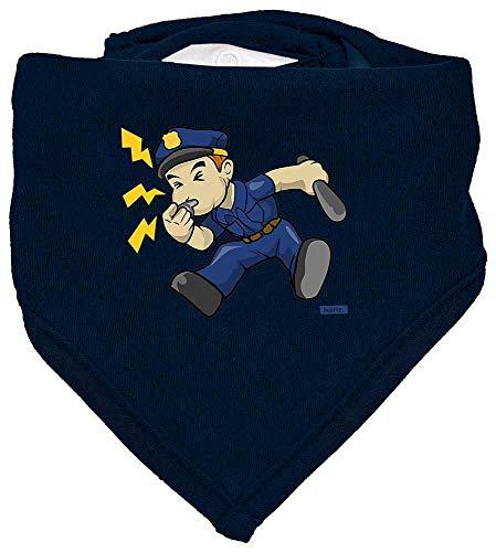 Kostüm Baby Cop - HARIZ Baby Halstuch Polizist Trillerpfeife Laut Polizei Cops Inkl. Geschenk Karte Matrosen Dunkel Blau