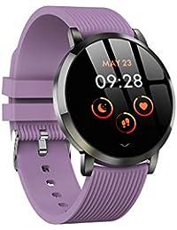 YOUNICER Fitness Uhr wasserdicht Touchscreen Smartwatch mit Herzfrequenz Schlaf Blutdruckmessgerät Erinnern