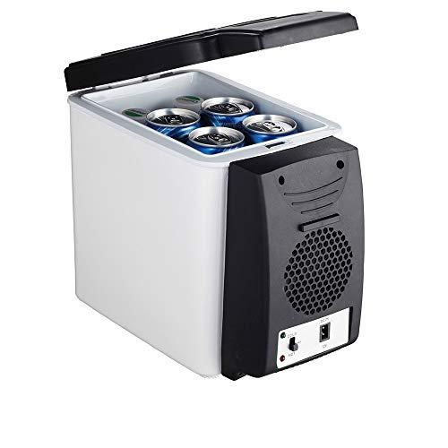 Auto Kleiner Kühlschrank, 6 Liter 12 V Auto Gefrierschrank Portable Große Kapazität Kühlschrank 27 * 32 * 17,5 cm Heizung Und Kühlung Inkubator Mode Praktisch Desktop Weiß Schwarz Schärfer