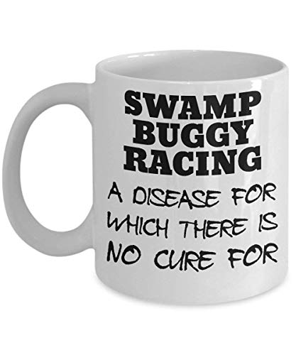 Swamp Buggy Racing Mug - Clever and Silly Gift Idea - A Comical and Witty Ceramic Coffee Cup, Always a Fun Surprise to Give and Receive-11oz