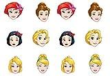 0558, confezione 12 maschere Principesse Disney, per feste e compleanni