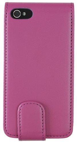 CASE IT CSIP4FPI Leder Flip Case für Apple iPhone 4/4S pink (Iphone 3g 8gb Apple Black)