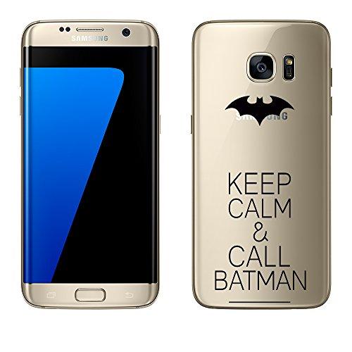 Samsung Galaxy S7 Edge Hülle von licaso® aus TPU schützt Dein Keep Calm Batman Superheld Hero Fledermaus S7 Edge 5,5