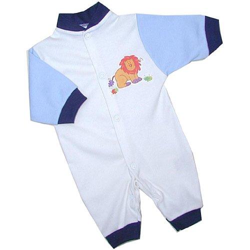 BabyPrem Frühchen Baby Overalls Spielanzug Strampler Jungen Kleidung Löwe 32-50cm BLAU P3