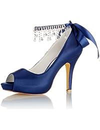 sélectionner pour le meilleur Design moderne couleurs et frappant Amazon.it: scarpe da sposa - Blu: Scarpe e borse