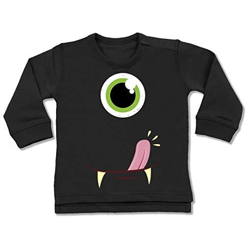 Shirtracer Karneval und Fasching Baby - Monster Gesicht Kostüm - 18-24 Monate - Schwarz - BZ31 - Baby Pullover