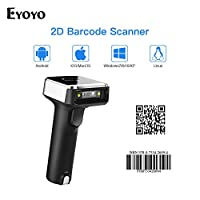 Eyoyo 1D 2D QR Wireless Barcode Scanner, 3-in-1 BT & 2.4G & USB Wired Portable Handheld Barcode Reader for PDF417 Data Matrix UPC Compatible Laptops/PC/Android/iPhone iOS
