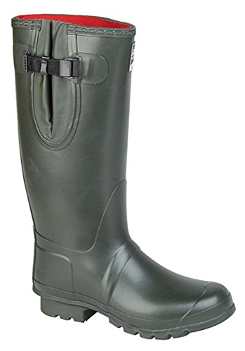 mens-womens-woodland-wellington-boots-thermal-neoprene-green-size-10