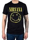 Offiziell Nirvana Smiley T-Shirt