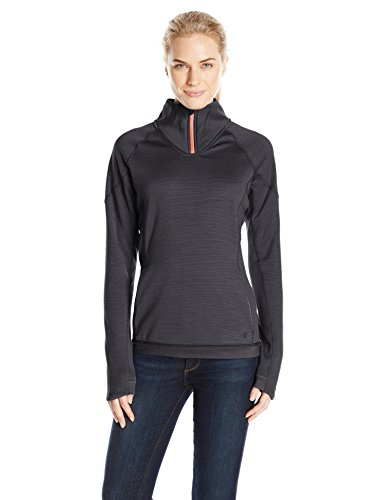 Champion Women's Performance Fleece Quarter-Zip Jacket, Black Space Dye/Black, (Zip Womens Quarter Champion)