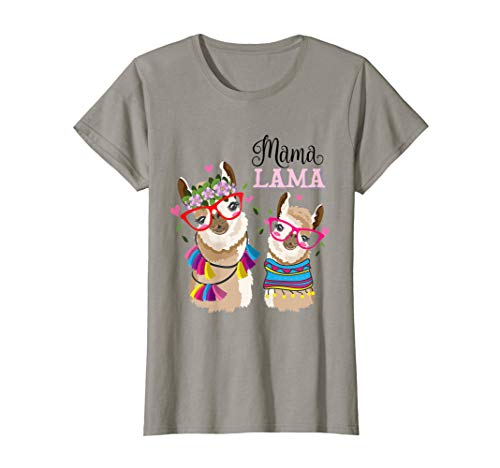 Mama Lama - Lustiges LLama Alpaka Muttertag Tochter Geschenk T-Shirt