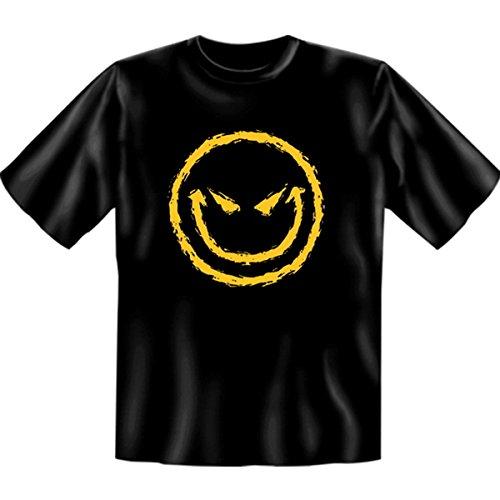 Horror-Tshirt Halloween Bad Smilie Farbe: schwarz Schwarz