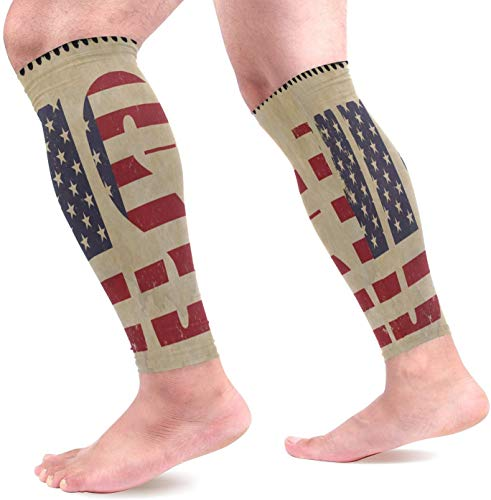 Das Ist England Kostüm Designer - uytrgh USA Flag Calf Compression Sleeves