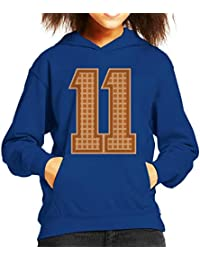 Eleven Eggos College Style Stranger Things Kids Hooded Sweatshirt