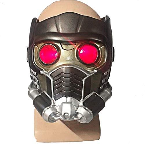 Henxizucun Wächter der Galaxy Star-Lord Helm Maske Halloween Gesichtsmaske Cosplay Männer Erwachsene Teil Maskerade Kostüm - Der Wächter Kostüm