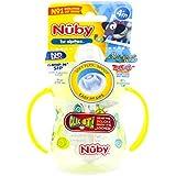 Nuby Click It Flip 'N Sip Soft Flex Spout 360 Straw Cup with Handle 270Ml Orange - 500105208