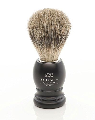 St James of London Black Best Badger Hair Shaving Brush -