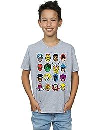 Marvel Jungen Comics Faces T-Shirt
