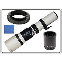 500 mm (1000mm) 1:8,0 Obiettivo fuoco manual Teleobiettivo (Bianco) + 2x Convertitore = 1000MM per Pentax K-S1, K-S2, K-m, K-r, K-x, K-01, K-3, K-5, K-5 II, K-5 IIs, K7, K10D, K20D, K-30, K-50, K100D, K110D, K-500, K200D, K1000, K2000, *istDS2, *istDS, *istDL2, *istDL, *istD, (K-Mount) Fotocamera Reflex Digitale