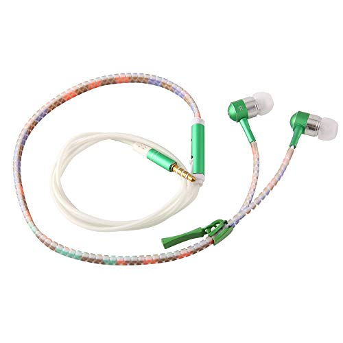 chtung In-Ear-Kopfhörer Kopfhörer Licht Reißverschluss Ohrhörer Headset Grün ()
