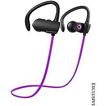 SoundPEATS Purple & Black Q9A Bluetooth 4.1 Wireless Sweatproof Headphones with Mic