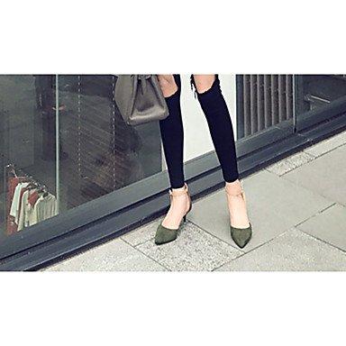 Talloni delle donne Primavera cinturino alla caviglia in PU fibbia tacco a spillo casual US5.5 / EU36 / UK3.5 / CN35
