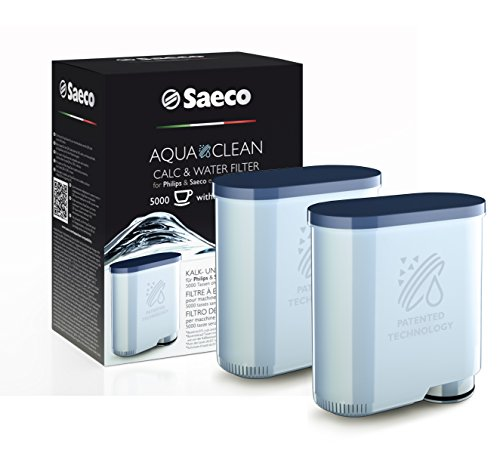 Saeco CA6903/01Aqua Clean e acqua Filtro anticalcare per macchine per caffè espresso Saeco, Confezione doppia)