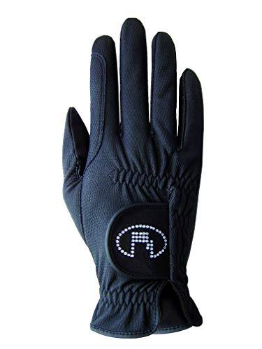 Roeckl Sports Damen Handschuh Lisboa, Damenreithandschuh, Schwarz, 6,5