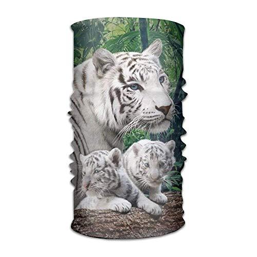 Nature White Tiger Headwear For Men And Women-Yoga Sports Travel Workout Wide Headbands,Neck Gaiter,Bandana,Helmet Liner,Balaclava,Hair Turban,Scarf
