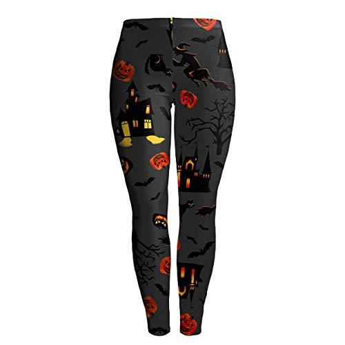 Dawwoti Lady Hosen für Halloween Teens Muster Gruseliger Gamaschen für Trick or - Best Trick Or Treat Kostüm