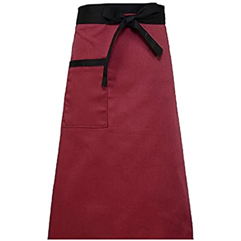 WARRAH Half Bistro Apron Pockets Cotton Restaurant Waitress Waiter New
