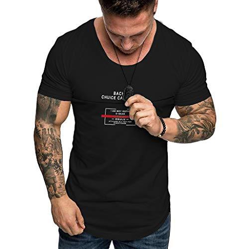 3629871d5474f Leey Hommes Sportif Décontractée Manche Courte T-Shirt à Manche Longue Col  à Boutons Cou