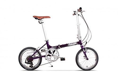 "Ape Rider Bicicleta Pegable Urbana Unisex Adulto - 7 Velocidades Shimano City Bike 16"" (púrpura)"