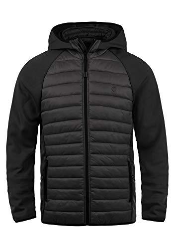 Blend Nils Sporty Herren Steppjacke Übergangsjacke Jacke gefüttert mit Kapuze, Größe:L, Farbe:Black (70155) (Mantel Herren Sport Blend)
