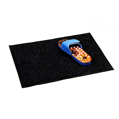 WINOMO Entrada alfombra piso Mats zapato alfombra para Living comedor dormitorio oficina felpudos 40 * 60cm (negro)