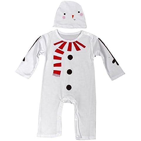 Koly Moda infantil Niños Traje muchachas de los bebés de Navidad Romper + Hat Conjuntos de ropa(0-2 años) (18M, marrón)