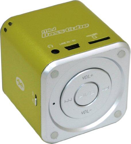 Jaytech 77002421 Bluetooth Mini Bass Cube aktiv-Lautsprecher (1 Stück, 3,5mm Klinke, 3 Watt, USB) Cube Mp3