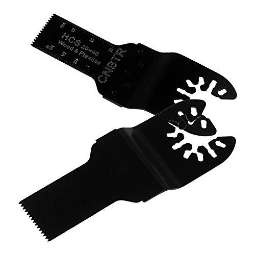 cnbtr schwarz 20x 40mm Carbon Stahl Sägeblatt Pendelndes Multitool Präzision Quick Release Sägeblätter Set von 5