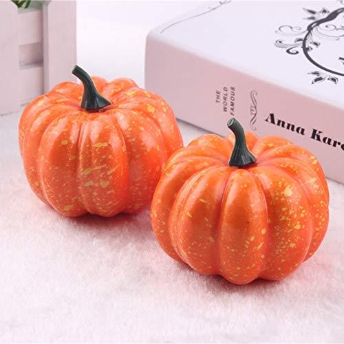 alistic Fall Mini Artificial Kürbisse Schaum Kürbisse 8.5cm Kleine Kürbisse Gefälschte Foam Halloween Kürbisse dekorativ ()
