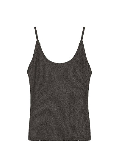 ZANZEA Damen Ärmellos Tank Crop Top Vest West Strand T-Shirt Bluse Oberteil Grau